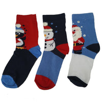 Christmas Socks Mens Ladies Boys Girls 3 Pack of Socks snowman elf santa rudolph