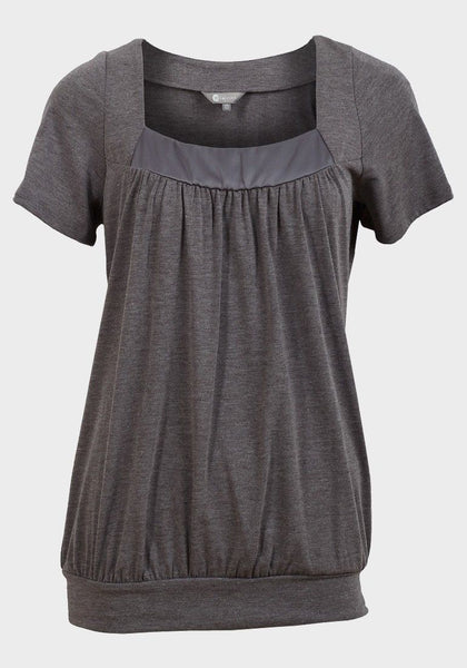 Ladies plum purple grey silver top satin neck 8 10 12 14 16 18 20