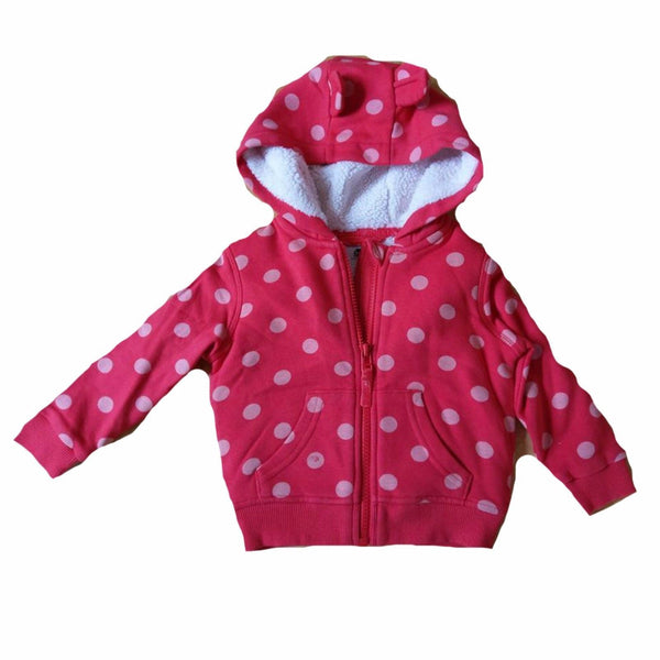 Girls Red Spot Jogging Bottoms or Hoodie zip up top ages 1 2 3 4 5 12/18 18/24 m