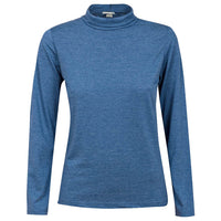 Ladies Black Grey Blue Roll Neck Tops sizes S M L XL 100% cotton