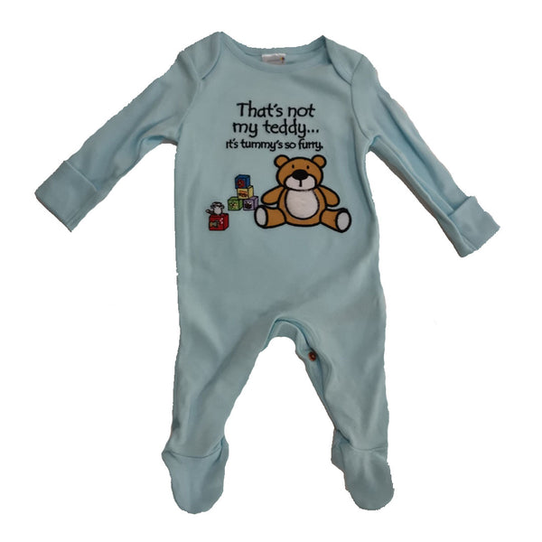 That's Not My Teddy Sleepsuit Babygrow Romper age NB-18m 100% Cotton