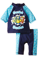 CBeebies Sunsafe Swimsuit swimming costume 12/18 18/24 2/3 3/4 5/6 Blue