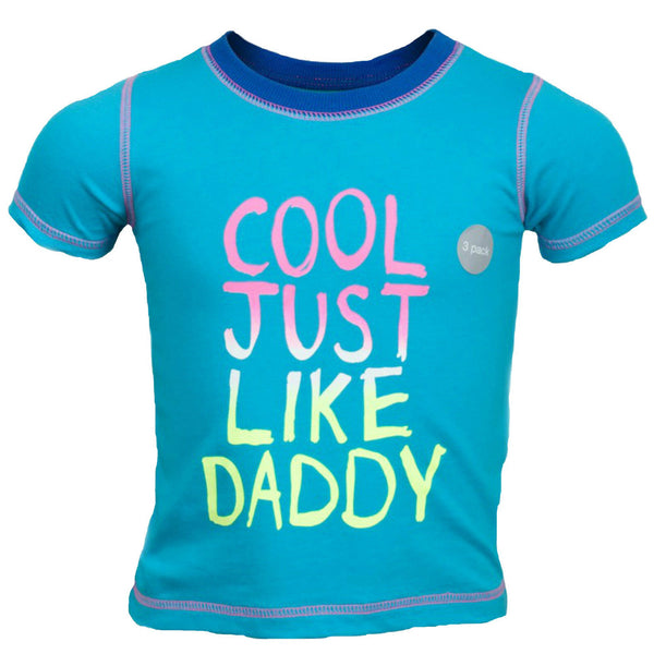 Baby Boy Cool Just Like Daddy T-shirt Top 0-3 months blue