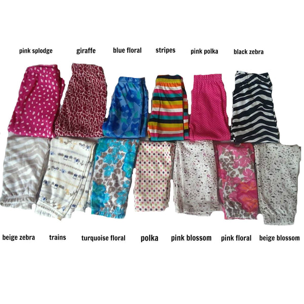 Baby leggings trousers various colours & patterns 0-24m
