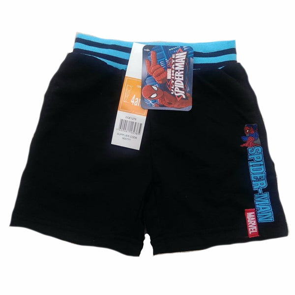 Boys Black Grey Spiderman Shorts cotton ages 3 4 6 8 summer play holiday
