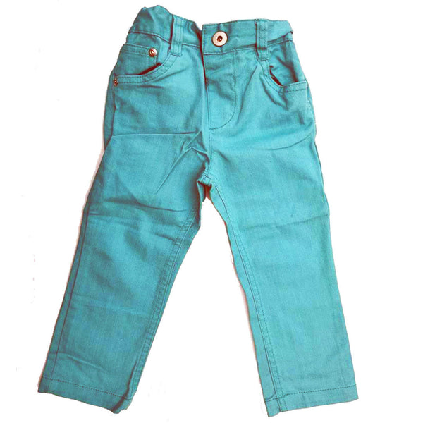 Girls Baby Aqua Blue Green Denim Jeans Adjustable waist 18-24m, 2-3 3-4 yrs