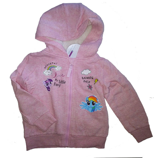 Girls My Little Pony Hoodie Jumper sweater age 2-6 zip fastening hood