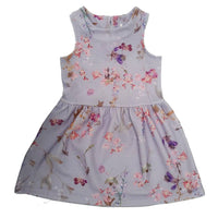 Girls Floral Lilac Ex-Next Sleeveless Dress age 3 4 5 6 7 yrs