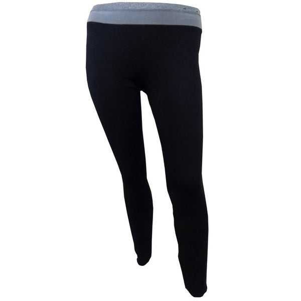 Ladies Leggings Black Stretch Sports Cotton Size S M L Gym Wear Running