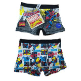 Boys 2 Pack Spiderman Bart Simpson Boxer Shorts age 6-13 yrs pants