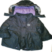 Girls Ex M&S Coat Jacket Stormwear with hood padded age 2-7 years