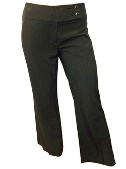 Ladies Ex M&S Black Trousers 8 10 14 16 18 20 short regular length bootcut