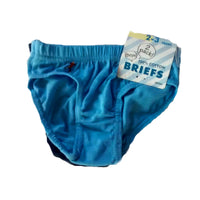 2 pack boys pants briefs age 2/3/4/5/6 blue football underwear