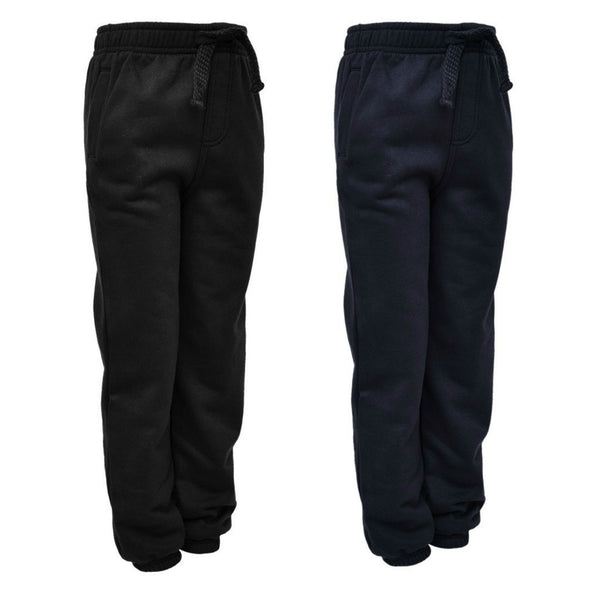 BNWT Boys Navy Black tracksuit bottoms jogging 2-12 school sports play