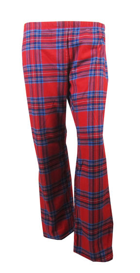 Ladies Tartan Pyjama Bottoms Lounge Pants Red Blue Checked 100% cotton 8-22 PJS