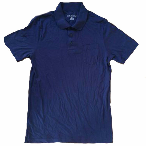 Mens Navy Blue Polo Shirt t-shirt size S M L XL 2XL 3XL top pocket