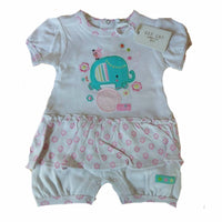 Baby Girl Boy Zipzap Elephant Puppy Short Romper 100% cotton NB 0-24m blue pink