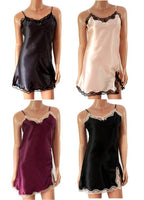 New: UK Ladies sexy satin nightdress chemise lingerie 8/10/12/14/16 uk seller - supercoolgifts