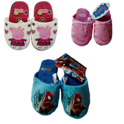 Peppa Pig Spiderman Slippers Pink white blue 7 8 9 10 11 12 13