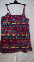 New: ladies black/white/pink/purple strap vest top t shirt size 8-22