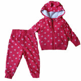 Girls Red Spot Jogging Bottoms or Hoodie zip up top ages 1 2 3 4 5 12/18 18/24 m - supercoolgifts