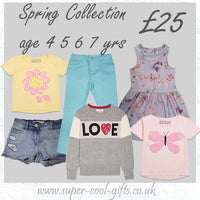 Spring Collection Gift Box for Girls ages 4 5 6 7 yrs