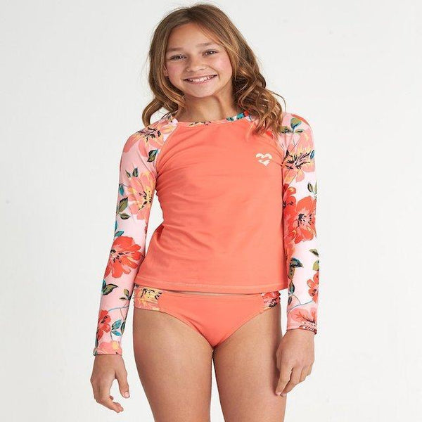 Billabong Girls Beach Bliss Long Sleeve Rashguard