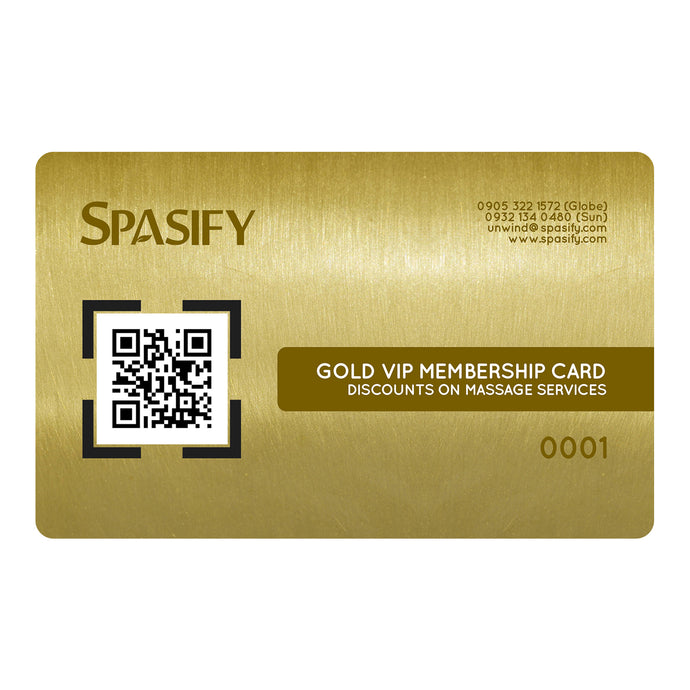 Spasify Gold VIP Membership Card