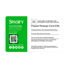 Load image into Gallery viewer, Spasify Co Branded Prepaid Cards