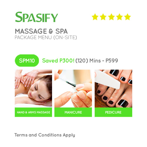 P300 Off on SPM10 - Spasify Massage & Spa On-Site (Package Menu)