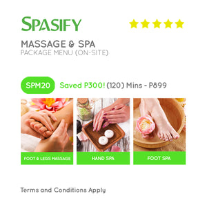 P300 Off on SPM20 - Spasify Massage & Spa On-Site (Package Menu)