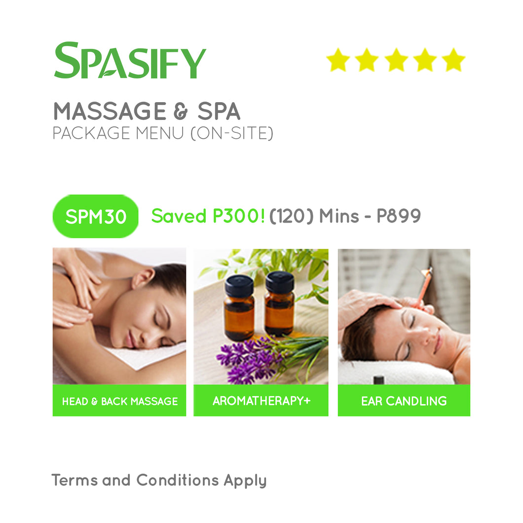 P300 Off on SPM30 - Spasify Massage & Spa On-Site (Package Menu)