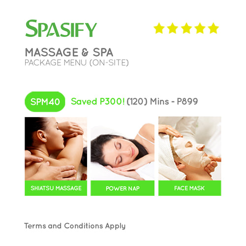 P300 Off on SPM40 - Spasify Massage & Spa On-Site (Package Menu)