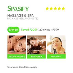 P300 Off on SPM60 - Spasify Massage & Spa On-Site (Package Menu)