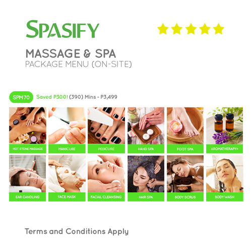 P300 Off on SPM70 - Spasify Massage & Spa On-Site (Package Menu)