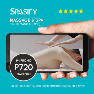Buy 1 Get 1 Hour (80% Off) on Spasify Massage & Spa On-Demand (Home Service)