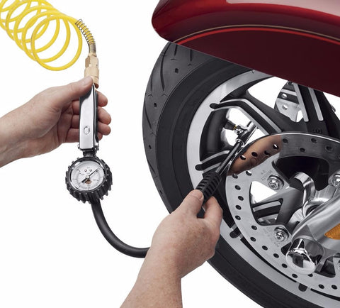 Tire Pressure Gauge and Fill Valve
