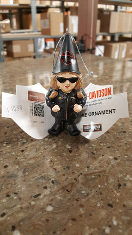 Female Harley-Davidson Garden Gnome Ornament