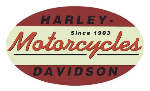 Harley-Davidson Since 1903 Oval Tin Metal Sign 11 x 18 Inch