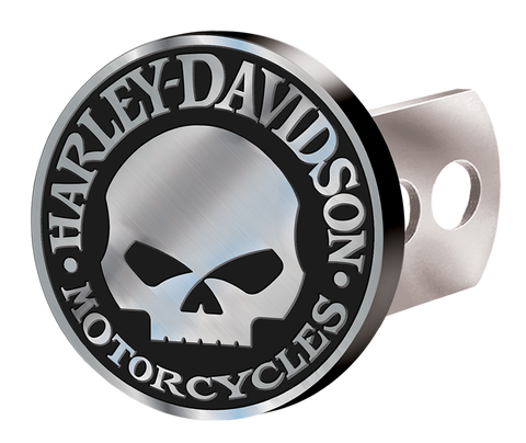 Harley-Davidson® Hitch Plug - Willie G Skull Brushed
