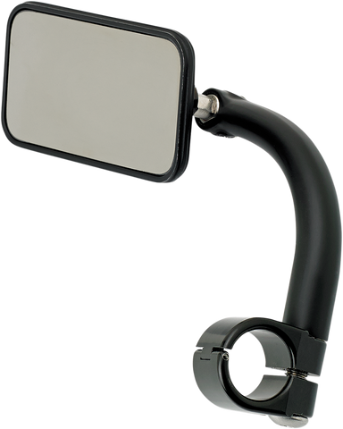 Biltwell Rectangular Mirror with Clamp-On Mount 7/8 Black
