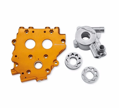 Screamin' Eagle Billet Cam Support Plate with High Volume Oil Pump