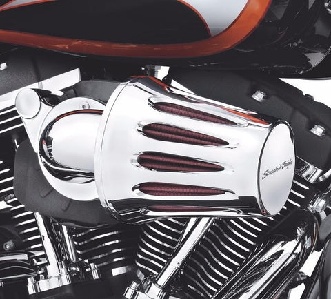 Screamin' Eagle Teardrop Heavy Breather Filter Cover - Chrome