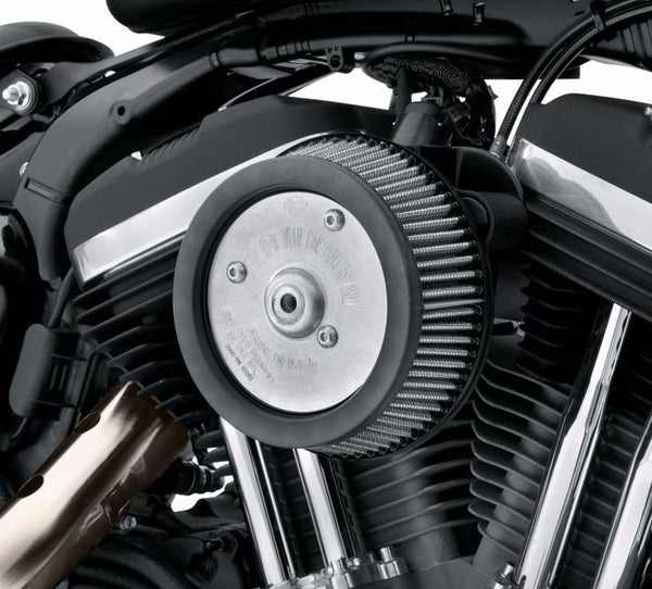 Screamin' Eagle Round Sportster Stage 1 Air Cleaner Kit - Gloss Black