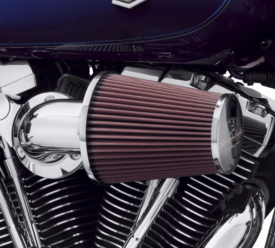 Semi Air Breather : Heavy breather performance air cleaner kit chrome