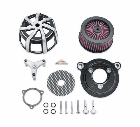 Screamin' Eagle Agitator Extreme Billet Air Cleaner Kit - Cut Back Black