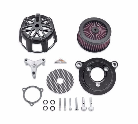 Screamin' Eagle Chisel Extreme Billet Air Cleaner Kit - Cut Back Black