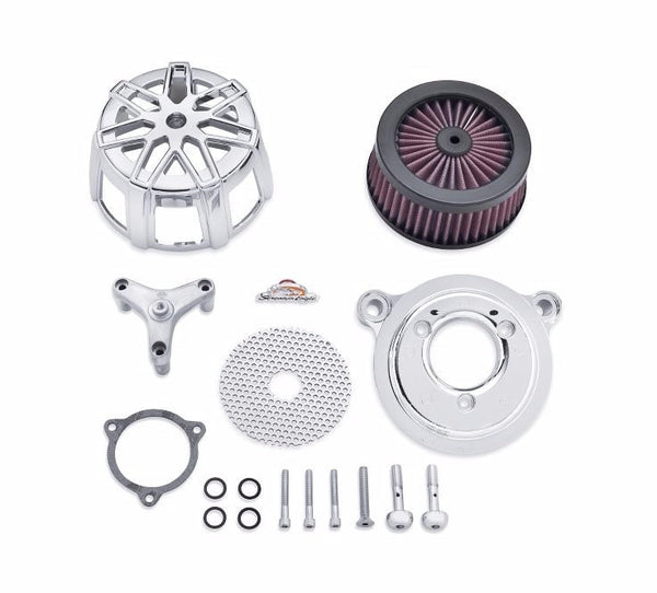 Screamin' Eagle Chisel Extreme Billet Air Cleaner Kit - Chrome