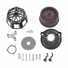 Screamin' Eagle Extreme Billet Air Cleaner Kit Chisel -Cut Back Black