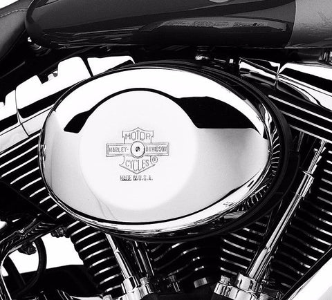 Nostalgic Bar & Shield Logo Air Cleaner Cover - Oval Twin Cam